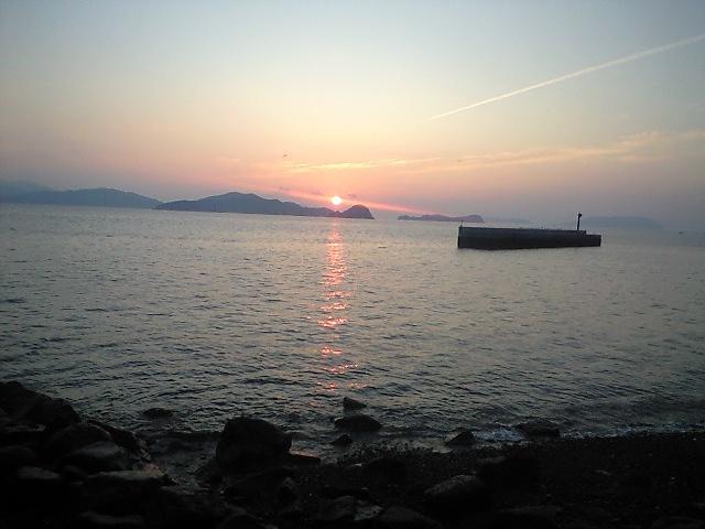 祝島の夜明け